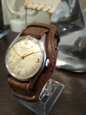 Vintage Rotary Military Style Hand Wind Watch working order Initials JME