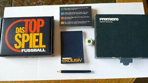 """Fussball-Quiz, Kartenspiel vom Pay-TV-Sender """"Premiere"""",anl. Fußball WM 1998"""