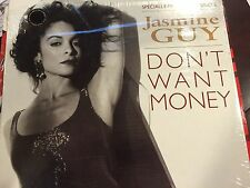 "JASMINE GUY DON'T WANT MONEY 12"" 1991 WARNER BROS. SHRINK 093624022800"