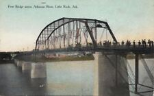 Postcard Free Bridge Across Arkansas River Little Rock Arkansas