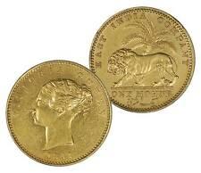 British India 1841 Victoria Gold Mohur Continous Legend in AU+