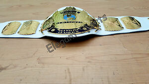 White WWF 4mm Winged Eagle Heavyweight Wrestling Championship Replica Belt