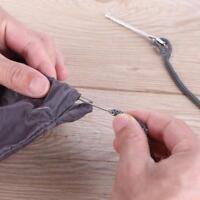 2pcs/set Stainless Steel Cited Clips Elastic Belt Wearing Rope Weaving Tool