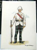 Postcard Scottish Military Highland Light Infantry Sergeant etc - unposted