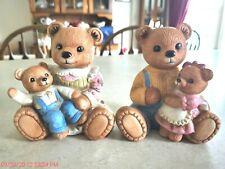 Large Homco Porcelain Bears Family #1444.