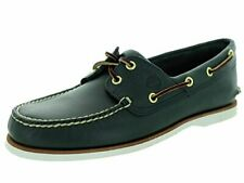 Timberland Men's Classic 2-Eye Boat Shoe, Navy Smooth, 9 M