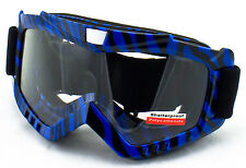 Safety Goggles Paintball Airsoft Anti-scratch Polycarbonate S01 Blue Zebra