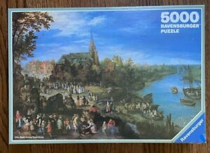 Ravensburger 5000pc - Village on the River - NEW, SEALED!! FREE SHIPPING!!