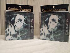 New ! Lot 8 Dalmatian Drink Soft Coaster Beer Mat Picture Dog Art Fireman Friend