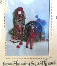 """Hanging by a THread cloth doll pattern POSIES 9"""" primitive scrappy dolls"""