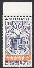 Andorra 1974 Coat-of Arms/Heraldry/Princes/Royalty 1v (n35748)