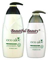 KOREA COSMETICS ECO ALOE VERA BODY CLEANSER 750ml + BODY ESSENCE (LOTION) 500ml