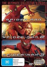 Spiderman Movie Trilogy DVD 3-Disc Set Tobey Maguire, Kirsten Dunst