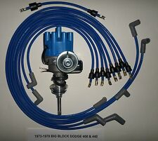 DODGE 440 1973-1978 BLUE Small Female Cap HEI Distributor-8mm Spark Plug Wires