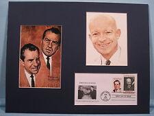 Presidential Running Mates Dwight  Eisenhower & Richard Nixon & First day Cover