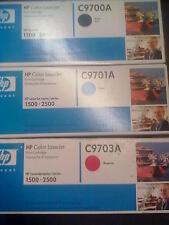 3 X GENUINE ORIGINAL HP C9700A/C9701A/C9703A LASERJET TONERS HP 1500-2500   121A
