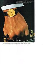 PUBLICITE  1979   CORUM   montre collection MONNAIE-MONNAIE