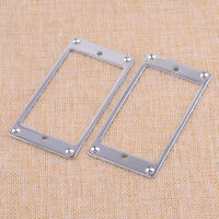 FINEST FLAT METAL HUMBUCKER PICKUP SURROUNDS FOR GIBSON ETC//THICK OR THIN //CR//GD