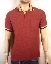 vtg 70s Bengal Lancer men's Terry Cloth Colorful Striped Ringer Polo Shirt M
