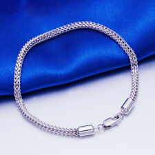 "Gift NEW Pure Platinum 950 Bracelet Woman's Man Fashion Elegant Chain 7.9""L"