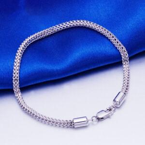 "Gift NEW Pure Platinum 950 Bracelet Woman's Man Fashion Elegant Chain 6.7""L"