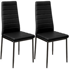 Sillas de Comedor de Poli Piel Juego Elegante Sillas de Diseño Modernas Negro