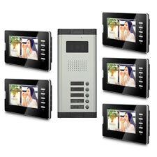5 Units Apartment Video Door Phone Doorbell Audio Visual Intercom Entry System
