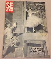 MARGRETHE SCHANNE SERGE GOLOVINE BALLET PARIS COVER VINTAGE Danish Magazine 1955