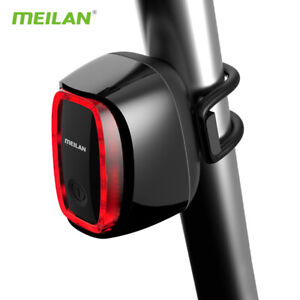 USB RECHARGEABLE BICYCLE Brake Warning Light MEILAN X6 INTELLIGENT BRAKE LIGHT
