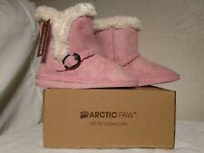 Bnib Kid Size 3 Arctic Paw Children's Winter Boots For Girls Pink & White