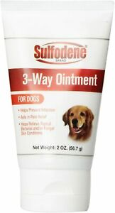 Sulfodene 3-Way Dog Ointment 2oz Topical Bacterial Fungal Wound Care Pain Relief
