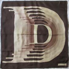 -Superbe foulard CHRISTIAN DIOR  soie   TBEG vintage scarf 74 x 76 cm