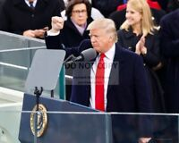 DONALD TRUMP JUST AFTER SWEARING IN AS 45TH U.S. PRESIDENT 8X10 PHOTO (ZY-728)