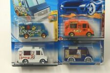 Hot Wheels Ice Cream Truck Lot of 4 Art Cars, Virtual, City Works