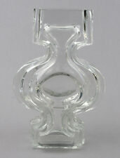Riihimaki Glass (Riihimaen Lasi) Clear Emma 1310 Vase by Helena Tynell 1960s