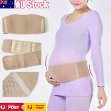 Pregnancy Belly Band Breathable Adjustable Maternity Belt Back Pelvic Support AU