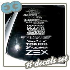14 SPONSOR LOGO DECALS CAR TUNING RACING 240SX 350Z  WINDOW BUMPER JDM STICKERS