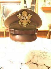 original WWIIOFFICER PILOTS 50 MISSION CRUSHER CAP Hat WW2 Flight Ace catch 22