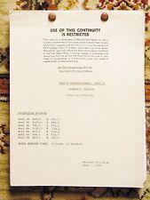 1976 THAT'S ENTERTAINMENT PART II - ORIGINAL CONTINUITY / FILM SCRIPT - MGM
