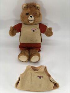 Vintage 1985 Teddy Ruxpin Talking Bear WORLD OF WONDERS (Read Desc)