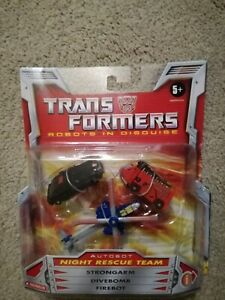 Hasbro Transformers Robots in Disguise Autobot Night Rescue Team Figure Set MIB
