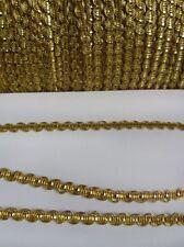 4MM Tiny Metallic Golden Zig-Zag Shell Gimp Tape / Trim / Christmas-5 Yards-T829