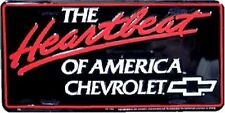"The Heartbeat Of America Chevy Chevrolet 6""x12"" Aluminum License Plate Tag ~ New"