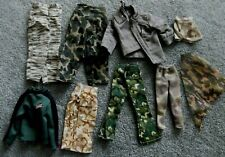 Barbie KEN Doll Clothes - 9pc ASSORTED AGE & SIZE CAMOFLAUGE PRINT CLOTHING