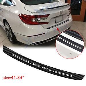 "For Honda Civic Accord Carbon Fiber Film Trunk Guard Plate Decal Accessories 41"""