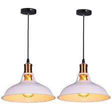 2 Pcs Pendant Lamp LampShades Industrial Bar Ceiling Light Home Lighting White