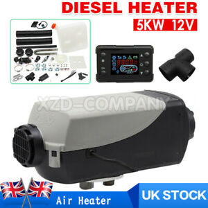 12V 5KW Diesel Air Night fuel Heater LCD Remote for Car Truck boats Indoor Home