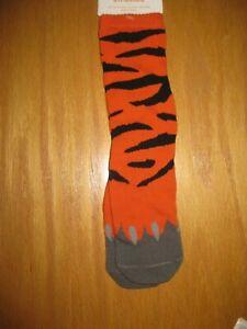 NWT Gymboree Shipmates Size Small 5-6 Orange Tiger Socks