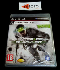 SPLINTER CELL BLACKLIST Sony Playstation 3 PS3 Play Station 3 PAL-España Nuevo