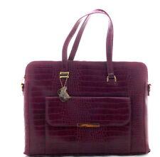 Bulaggi  Burgundy Handbag Moc Croc  Large  Shoulder Strap & Dust Bag